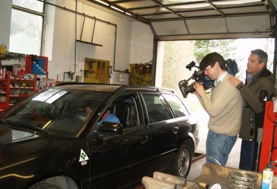 Robert wird vom ZDF-Team begleitet